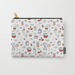 Coffee Pattern Carry-All Pouch
