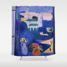 LANDSCAPE VIEWED FROM A WINDOW IN TANGIER - HENRI MATISSE Shower Curtain