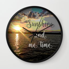 Sunshine and Me Time Wall Clock