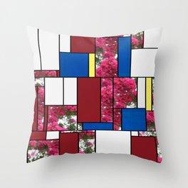 Crape Myrtle Art Rectangles 4 Throw Pillow