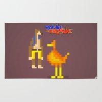 banjo Area & Throw Rugs featuring Pixel Art Banjo-Kazooie by LoweakGraph