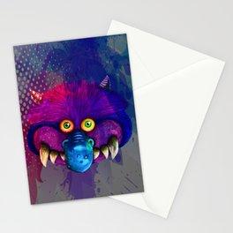 Monster pop art Stationery Cards