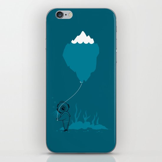 The Diver and his Balloon iPhone & iPod Skin