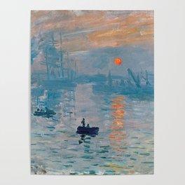 Claude Monet Impression Sunrise Poster