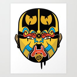 Wu-Mask Kunstdrucke