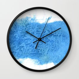 Blue Jeans abstract watercolor Wall Clock