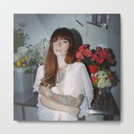 Hattie Floral Metal Print