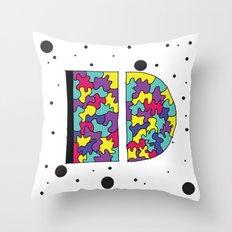 Letter D Throw Pillow