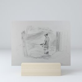 Study of a Fisherman Mini Art Print
