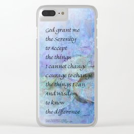Serenity Prayer Water Lily Wonders Clear iPhone Case