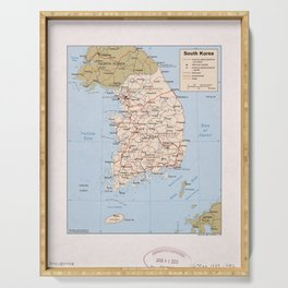 Map of South Korea (1989) Serving Tray