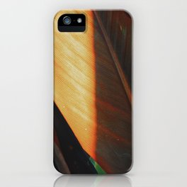 glistening leaves iPhone Case