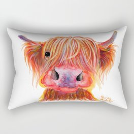 Scottish Highland Cow ' CHILLI CHOPS ' by Shirley MacArthur Rectangular Pillow