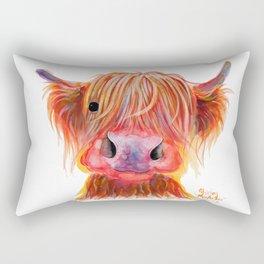 Scottish Highland Cow ' CHILLI CHOPS ' by Shirley MacArthur Rectangular Pillow