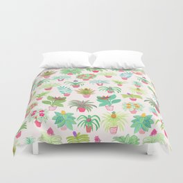 Tropical Houseplants Duvet Cover
