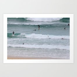 Bondi Beach Surfers Art Print