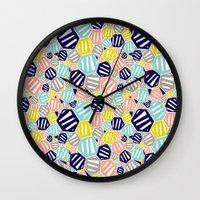 hexagon Wall Clocks featuring Hexagon by Rachel Westhead