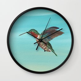 Hummingbird on the Move Wall Clock