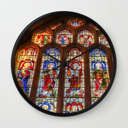 Stained Glass Abbey Window Wall Clock