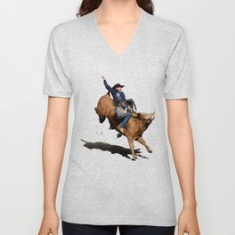 Bull Dust! - Rodeo Bull Riding Cowboy Unisex V-Neck