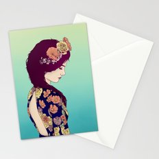 Yellow Garden Lady Stationery Cards
