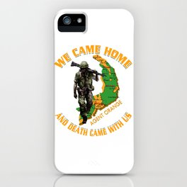 We came home and death came with us iPhone Case