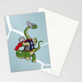 "Bronto""THOR""us - God of Thunder Lizards Stationery Cards"