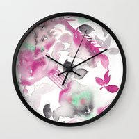 grateful dead Wall Clocks featuring Grateful by The East Auklet