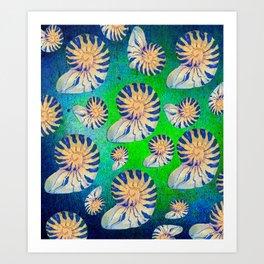 SEA SHELLS PATTERN Art Print