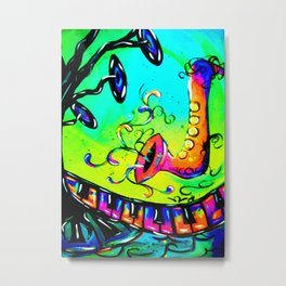 Electric funky music Metal Print