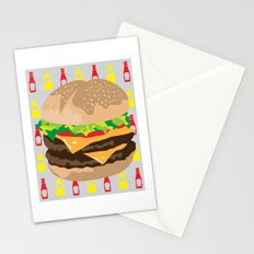 Double Cheeseburger Stationery Cards