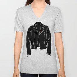 Leather Jacket - HANDSOME DEVIL'S CLUB (3/3) Unisex V-Neck