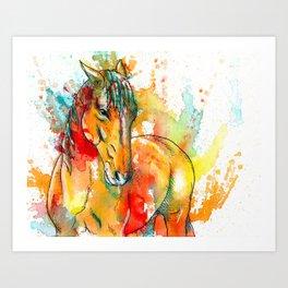 The Spirit of a Horse Art Print