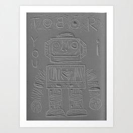 I LOVE ROBOT Art Print