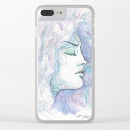 Woman Face Clear iPhone Case