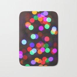 Christmas Tree Lights Bath Mat