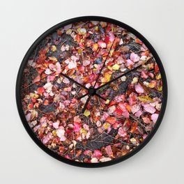 Autumn leafs Wall Clock