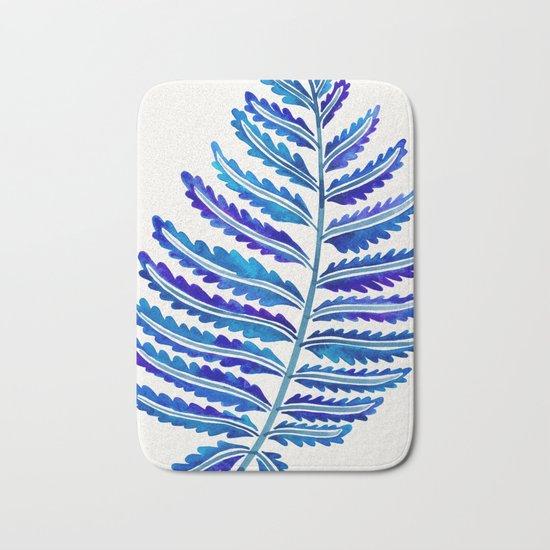 Fern Leaf – Navy Palette Bath Mat