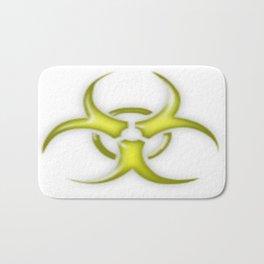 Yellow Biological Hazard Symbol Bath Mat