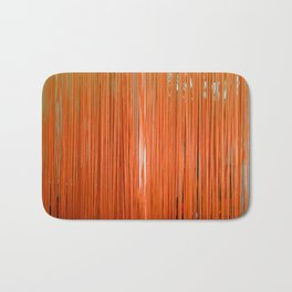 ORANGE STRINGS Bath Mat
