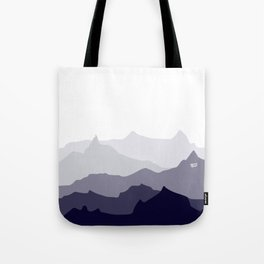 BLUE MOUNTAIN PANORAMA #minimal #art #design #kirovair #buyart #decor #home Tote Bag