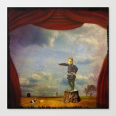The boy and his mouse Canvas Print