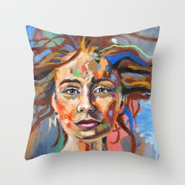 Finding Calm in the Choas Throw Pillow