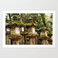 Nara Lanterns Art Print