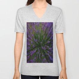 Lavender Field Of Dreams  Unisex V-Neck