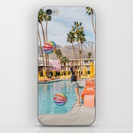 Palm Springs Pool Day IV iPhone Skin