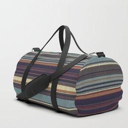 """Blue lines burlap"" Duffle Bag"