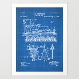 Brewing Beer Patent - Beer Art - Blueprint Art Print