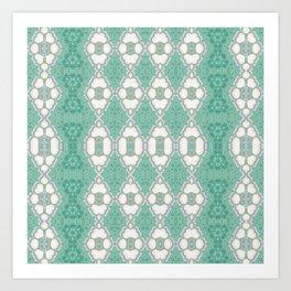 Multi Mint Green Pattern Design Art Print
