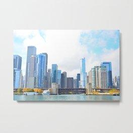 Chicago - World Big City Metal Print